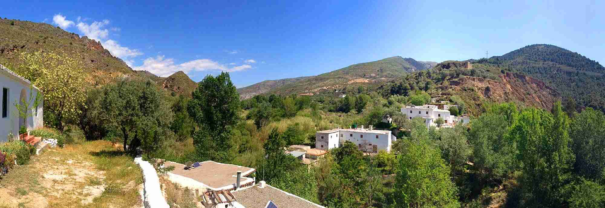 Walk into village or town Holiday  Villas in Orgiva near the beach