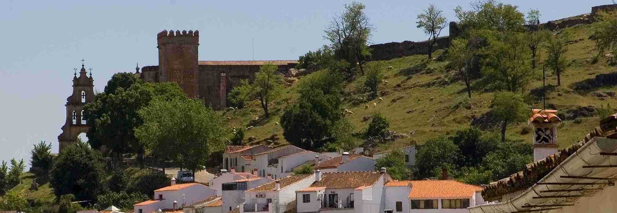 Walk into village or town Holiday  Villas in Aracena with Pools