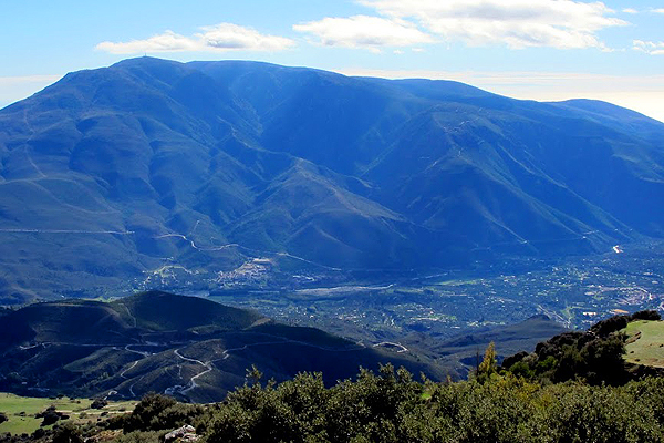 Low Alpujarras seen from High Alpujarras