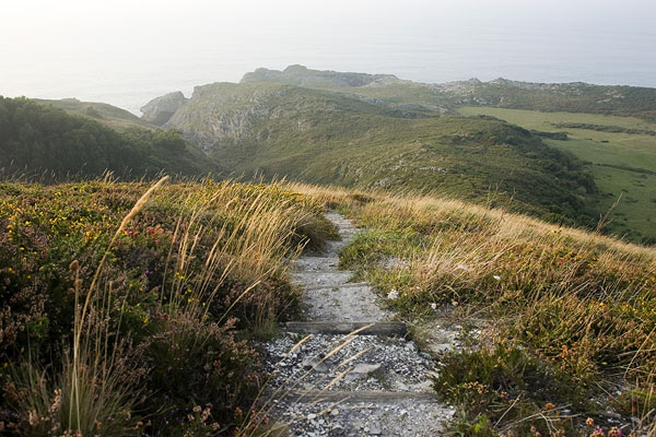Path to an off the beaten track beach (Pimiango,Asturias)