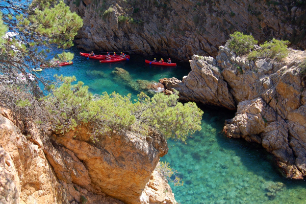 La Foradada's turquoise waters on the Costa Brava