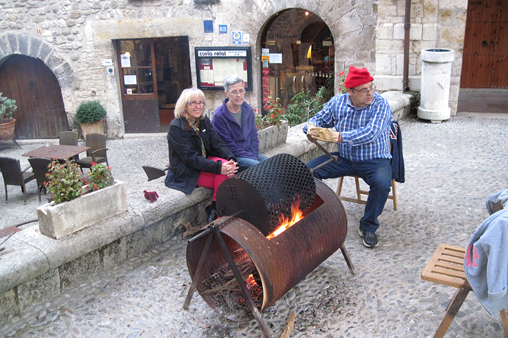 Roasted chestnuts in Besalu