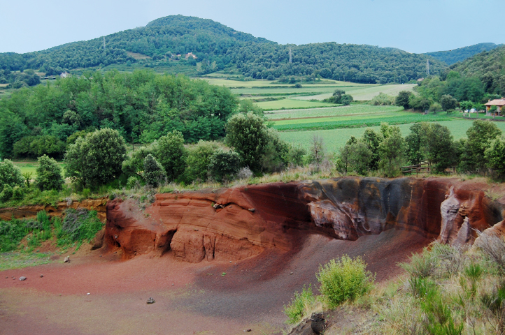 Dramatic scenery in volcanic area of Garrotxa