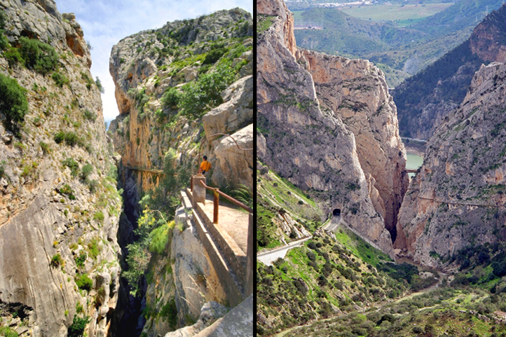 Gorge of the Gaitanes, El Chorro. Antequera