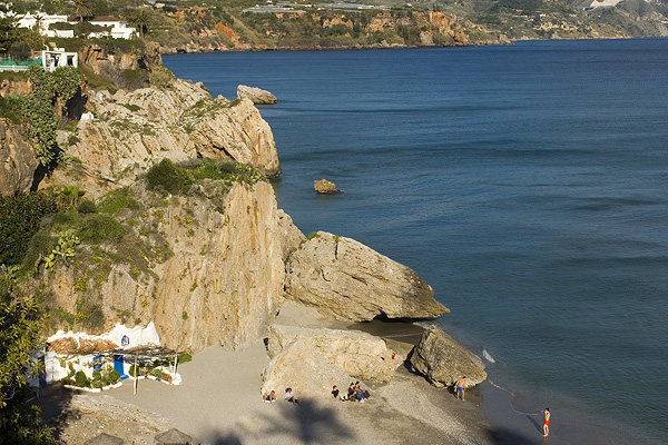 Nerja beach by the Axarquia region