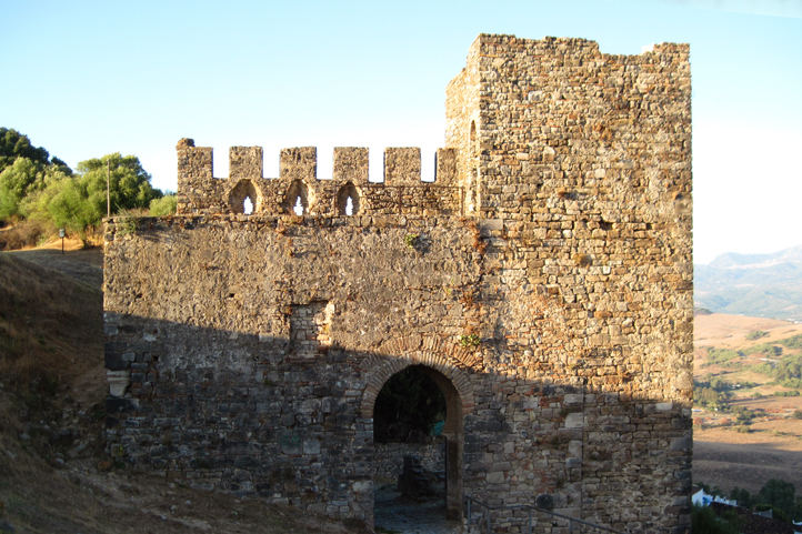 Jimena Castle built by the Moors in the 13th century