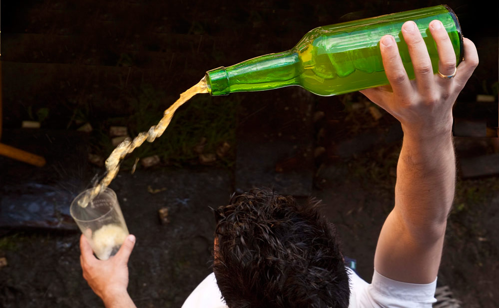 Pouring cider