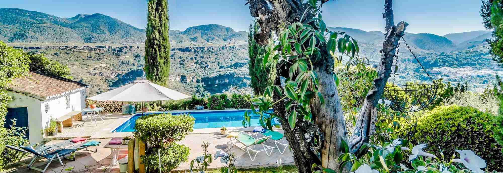 Granada villa rental with private pool in a semi-tropical valley