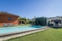 Smartly different villa: pool and barbecue area