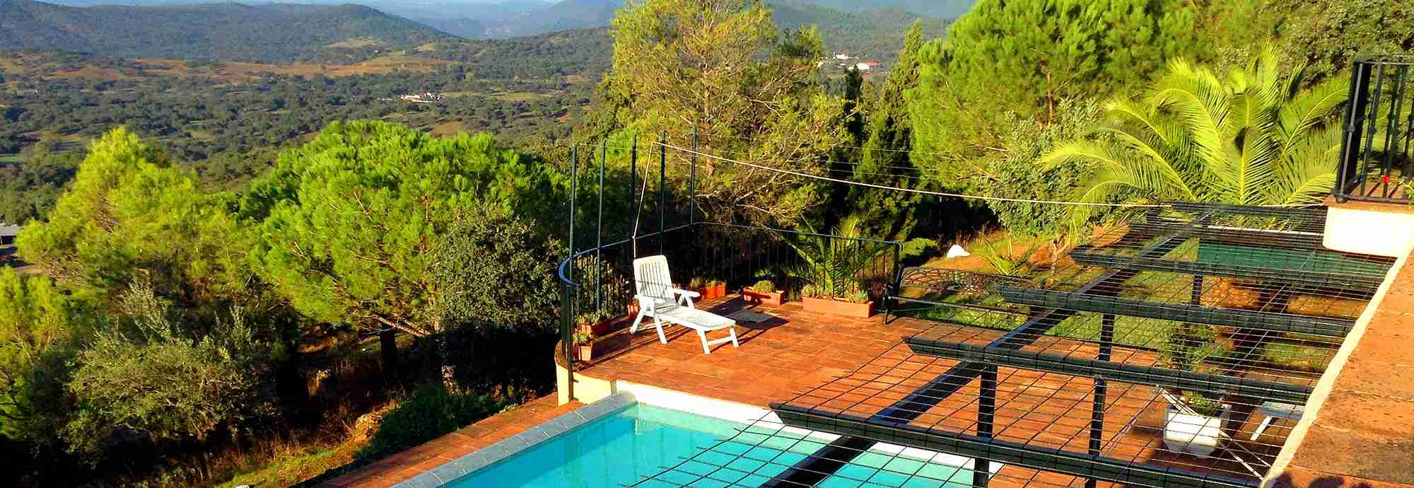 Private villa with pool and lovely views in Aracena, Spain