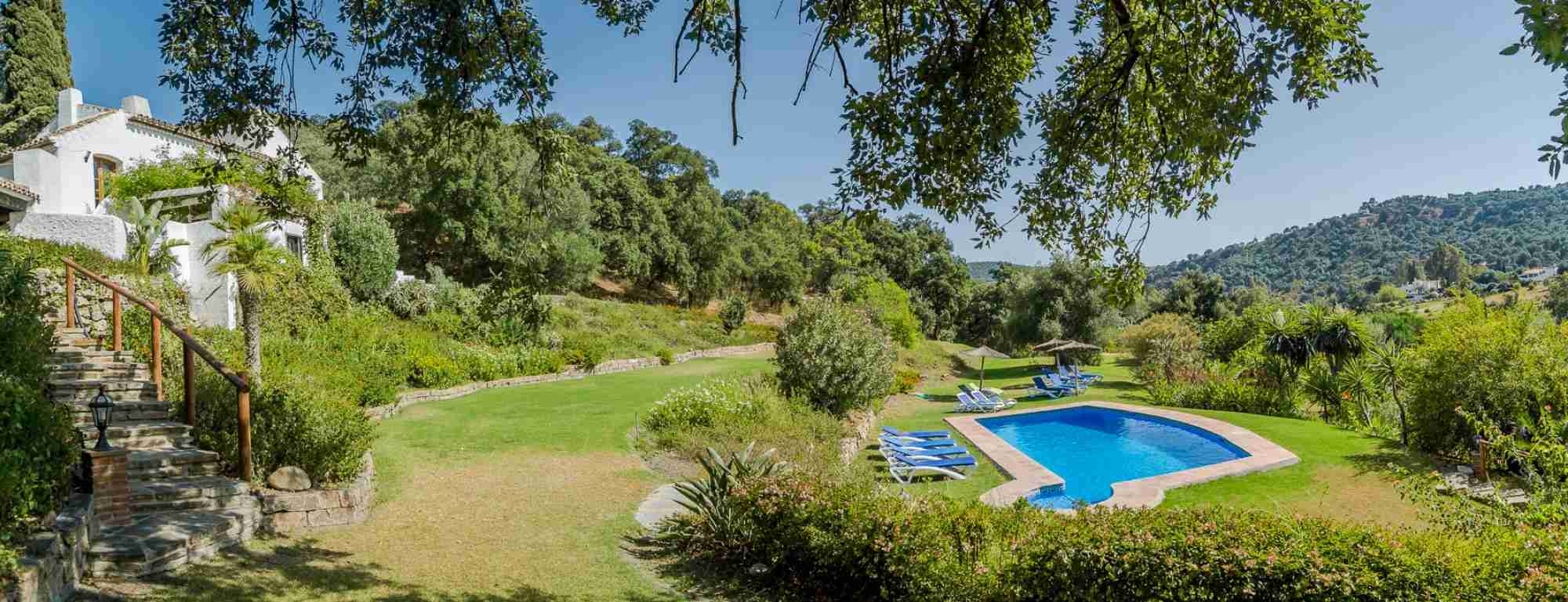 An entire hacienda in the warm climate of a green Andalucia coastal valley