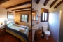Standard double-bedded room and shower room