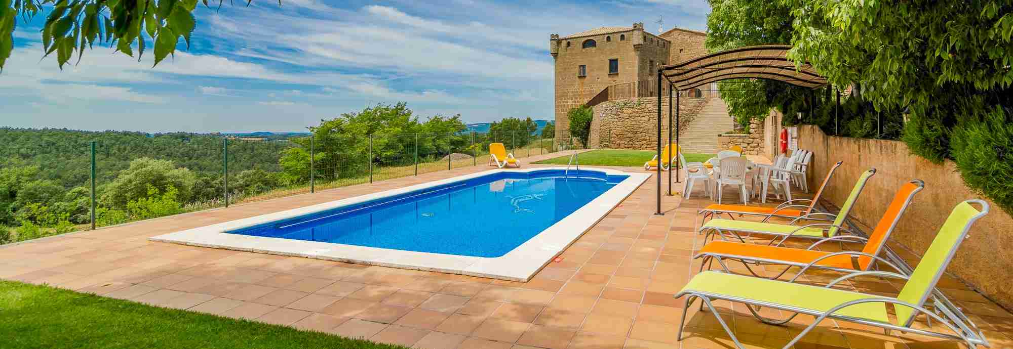 Private 15th century National Heritage castle for holidays in Catalonia