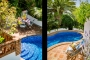 Irregular shape pool 8 m x 4 m