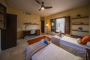 Twin bedded room in Casita annexe