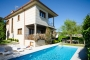 Villa, pool and gardens at a glance