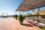 Furnished pergola for outdoor meals