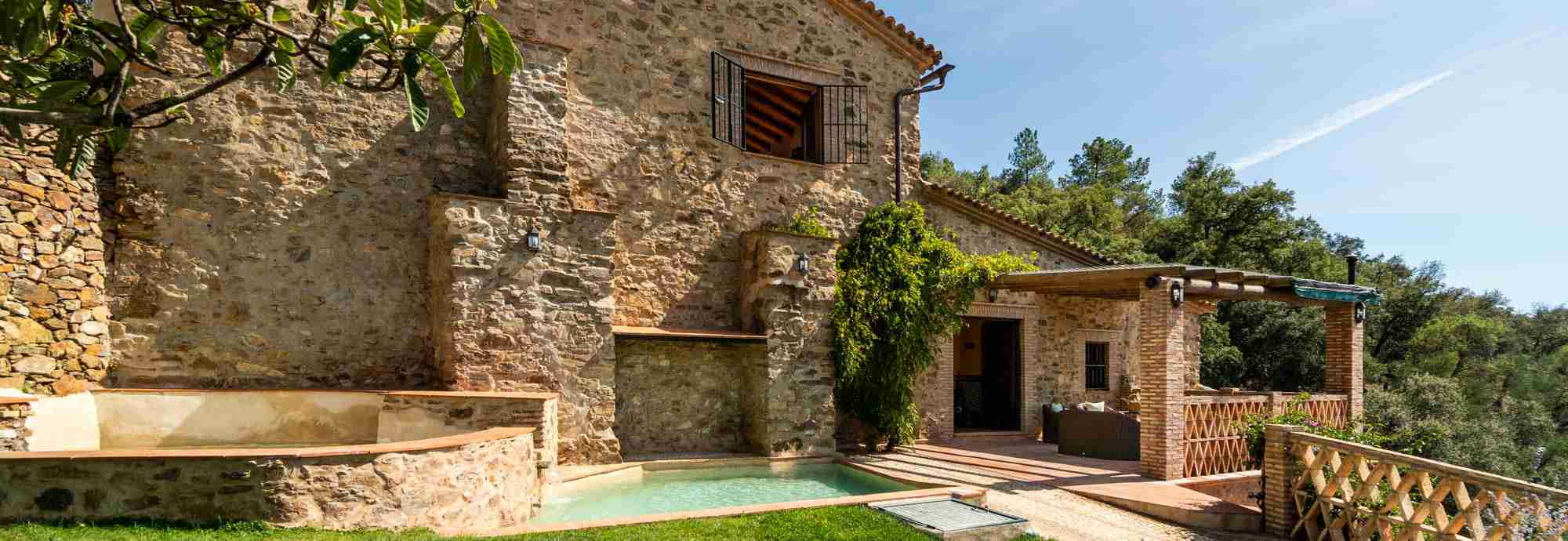 Immaculate restored mill surrounded by nature close to traditional village