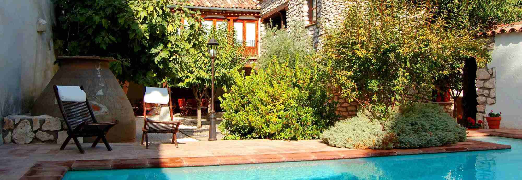 Large luxury villa rental with pool in Madrid, Spain